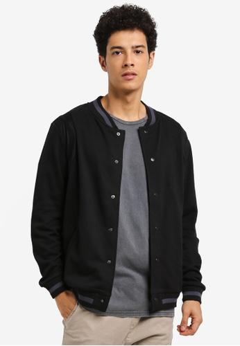 Cotton On black Bomber Fleece Jacket 6BEBCAA632B7D9GS_1