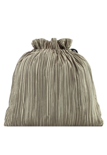 Rubi green Juliet Pleated Draw String Bag E1B2BAC49108B9GS_1