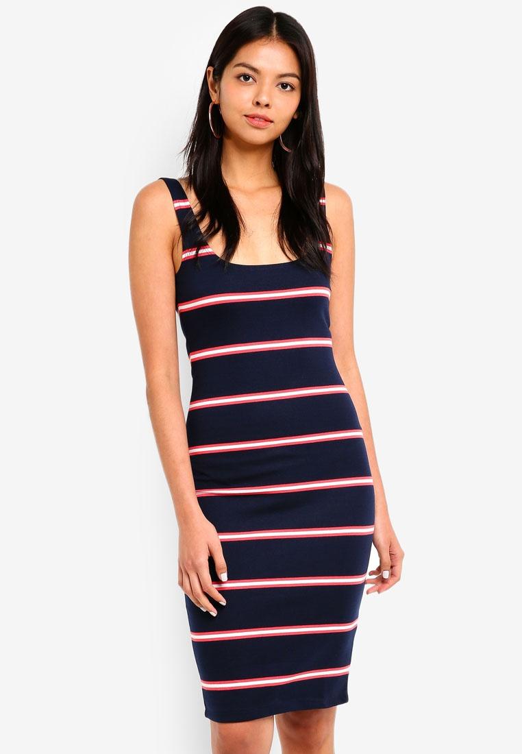 54935da6c5 Moonlight Petal Bodycon Kimi Rose Remi Stripe Midi On Cotton Scooped Dress  pwx1qwv58 ...