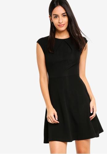 ZALORA black Pleat Detailed Dress 7C5FEAAA3514B6GS_1