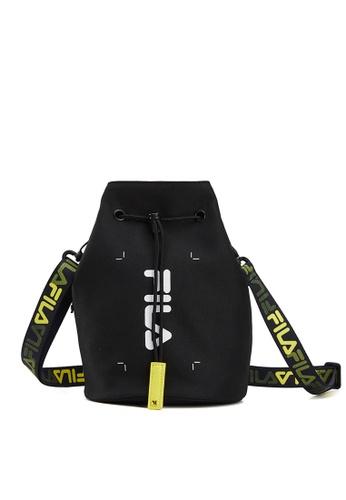 FILA black FUSION Unisex FILA Logo Drawstring Crossbody Bag 04A03AC894FACCGS_1