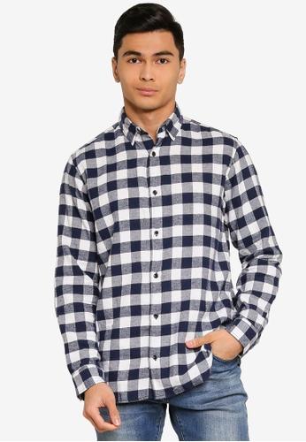 Jack & Jones white Jan Long Sleeves Shirt 26952AAE90EB91GS_1
