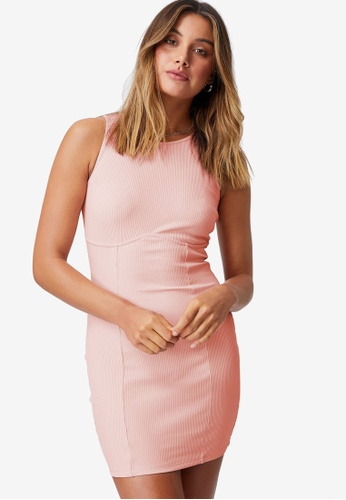 Supre pink Allie Fitted Mini Dress 3AA18AAF749A0EGS_1