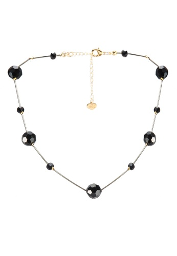 Red's Revenge navy Crystal Baubles Collar Necklace 111D1AC4C36F97GS_1