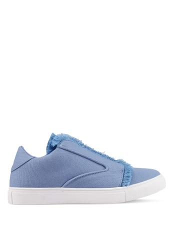 ZALORA blue Raw Edge Frills Sneakers 62F67SH431E981GS_1