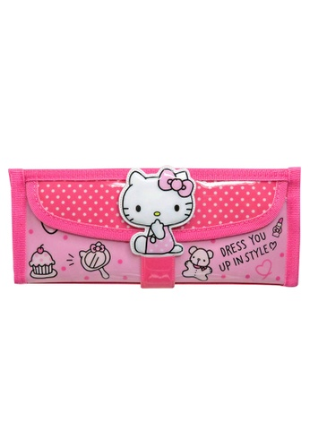 Hello Kitty pink Hello Kitty Square Pencil Bag With Pocket 552BDKCD3AE44CGS_1