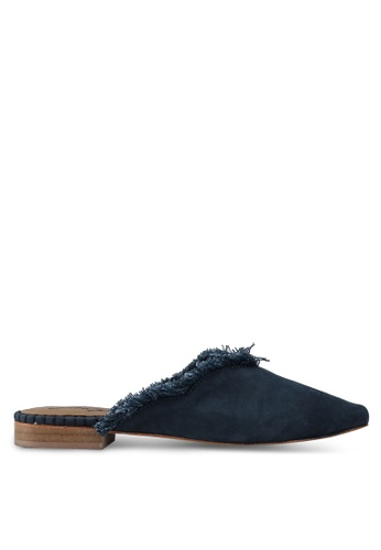 Free People blue Leather Newport Flat 697DBSHA4192A9GS_1