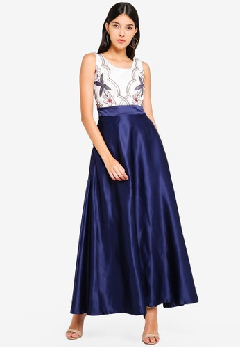 Megane navy Best Frenz Ayita Embroidery Long Dress 1713EAA543C801GS_1