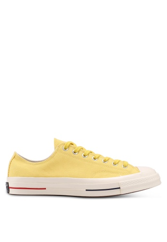 Converse yellow and navy Chuck Taylor All Star 70 Ox Sneakers CO302SH0SW7RMY_1