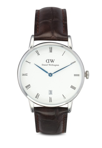 Daniel Wellington silver and brown Dapper York Watch 34mm DA376AC0SBU2MY_1