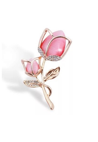 Glamorbit multi Brooch Roses With Cubic Zirconia 0A3FEAC5BFAB56GS_1