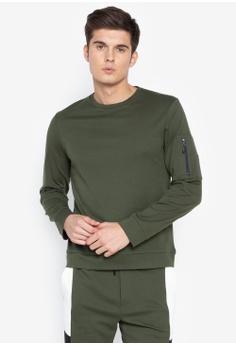 e4ff8f9ffab26b REIN & PAUL green Pullover with Pocket Sleeve 2F572AA5F5F273GS_1