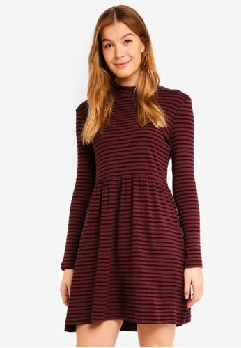 Vero Moda black Seda Long Sleeve Rib Dress 821E1AA979E8F9GS_1