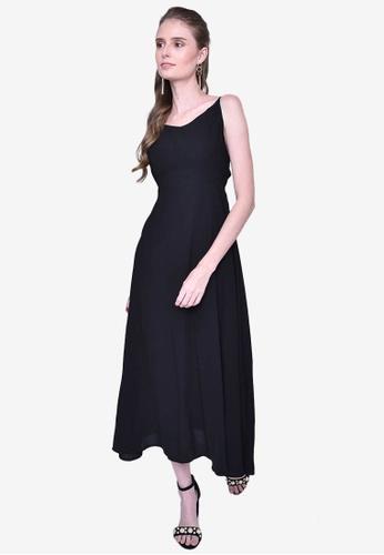 Caoros black Basic Sleeveless Backless Dress FA3A7AAA9A0E21GS_1