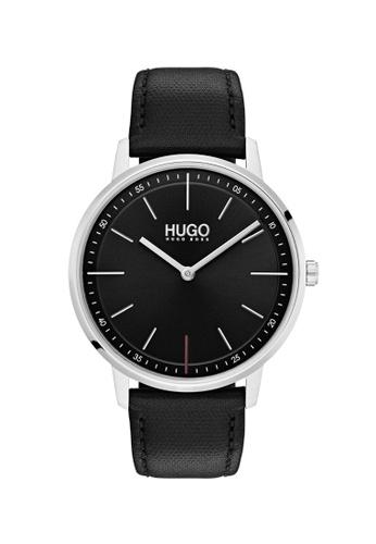 Hugo Boss black HUGO Exist Black Unisex Watch (1520007) FE8BDAC3079D8CGS_1