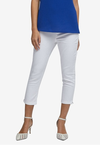 Dorothy Perkins white PETITE White Eden Cropped Jeans 5EEBCAAD336702GS_1