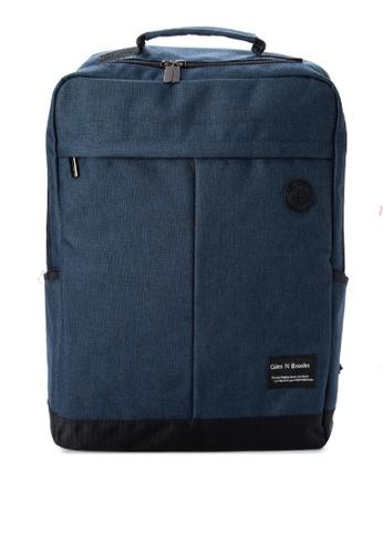 Giles N Brooks navy Kyung-soo Backpack GI308AC0KFXIPH_1