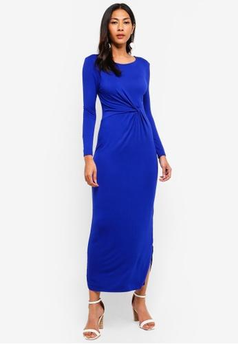 Dorothy Perkins 藍色 Petite Blue Jersey Dress 5761EAAD2B30B6GS_1