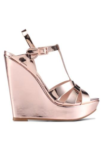 ALDO 銀色 Nellyy Wedge Sandals B16C0SH1FA0404GS_1