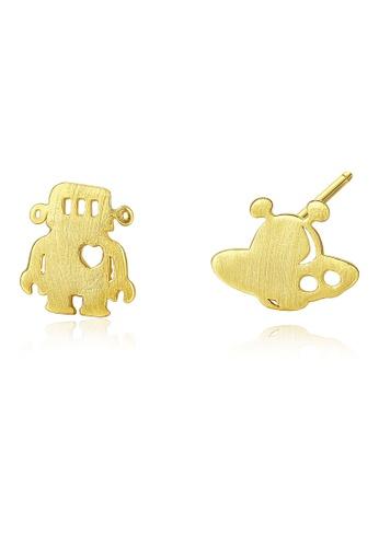 SUNRAIS gold High quality Silver S925 gold fashion earrings EC3B8AC366E64EGS_1