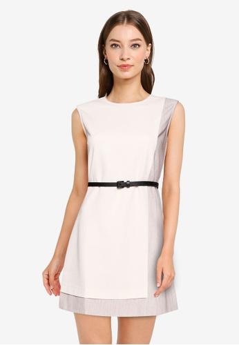 ZALORA WORK multi Overlap Belted Dress 0A0ADAA625E015GS_1