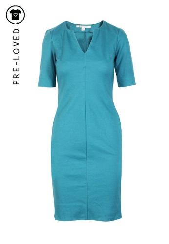 Diane Von Furstenberg blue Pre-Loved diane von furstenberg Fitted Knee Length Dress F6341AAEE7C789GS_1