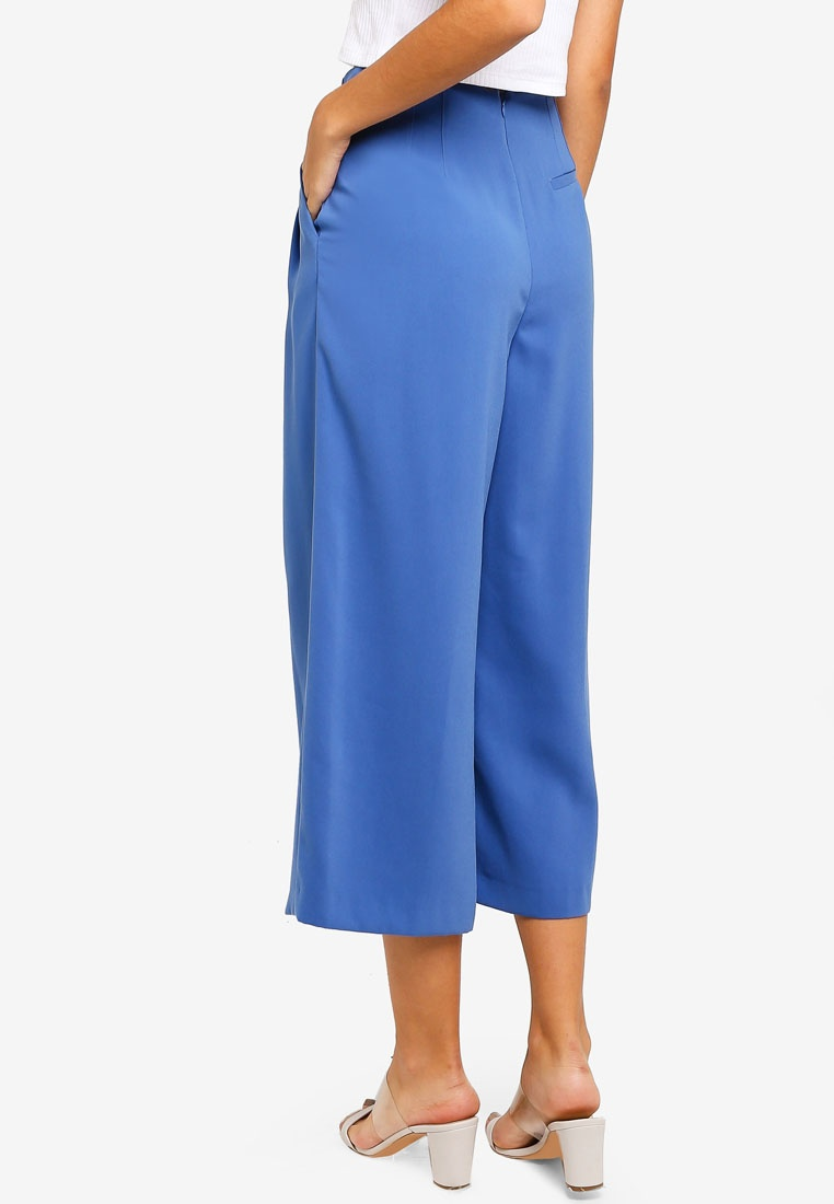 Trousers Ivy TOPSHOP Cropped Blue Wide wUwzdt