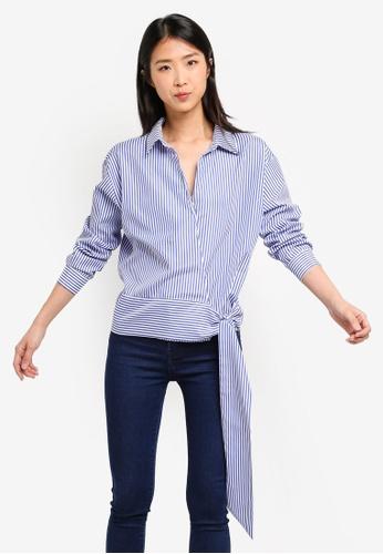 ZALORA BASICS multi Basic Long Sleeves Shirt With Knot A41D8AAFD5FBDBGS_1