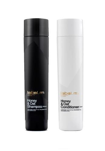 label.m Honey & Oat Shampoo and Conditioner 300ml Duo Set LA590BE21FLESG_1