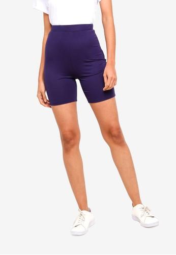 ZALORA BASICS navy Basic Shorts Legging 24BD4AA0ACEC15GS_1