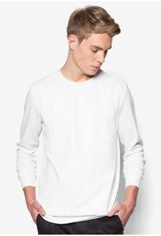 Mixed Material Sweatshirt