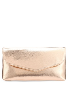 a0df11f023 Dorothy Perkins gold Rose Gold Metal Bar Clutch 4FED5AC1E811D2GS 1