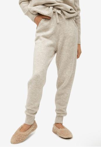 Mango grey Knit Jogger-Style Trousers E0A3FAA23E8B24GS_1