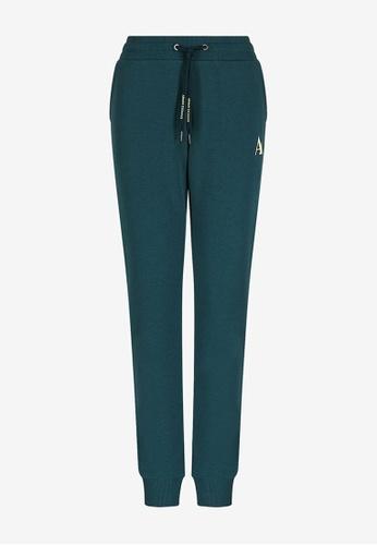 Armani Exchange green AX Armani Exchange Women Contrasting Neon Logo Sweatpants - Spring & Summer 2021 Collection A89CFAA036909EGS_1