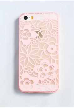 Flower Web Hard Transparent Case for iPhone 5/5s