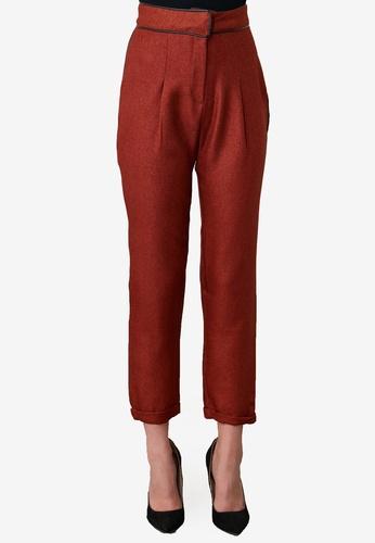Trendyol orange Side Striped Trousers 8EFC1AA8D61F4FGS_1