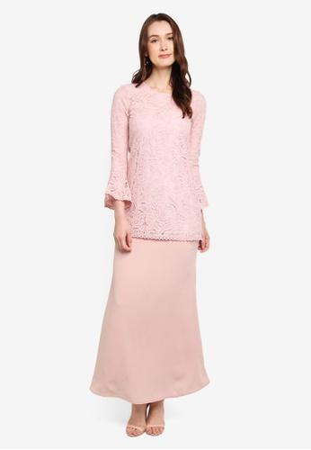 Soonaru pink Daylily Pink Kurung 0FFCEAAA42DDF1GS_1