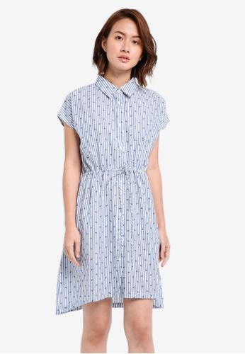 ZALORA blue Open Back Shirt Dress 1F57DAA3D8F429GS_1