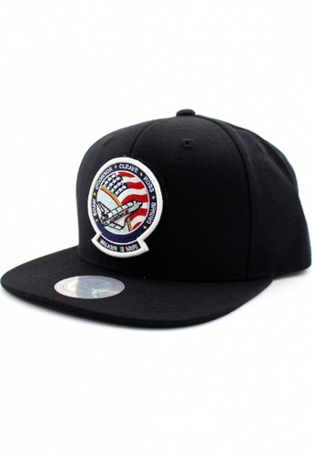 DOSSCAPS black and red and blue FLIPPER NASA Rocket Patch Snapback DO290AC44GMPMY_1