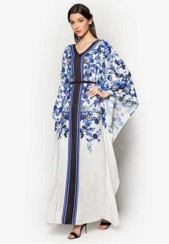 Embelliszalora 折扣碼hed Floral Kaftan, 服飾, 服飾