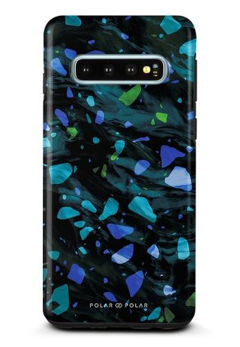 Polar Polar blue Ocean Terrazzo Gem Dual-Layer Tough Case Glossy For Samsung Galaxy S10 029A7AC7597132GS_1