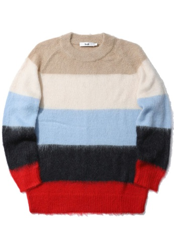 b+ab beige Stripes knitsweater 1D52BAA8A15060GS_1