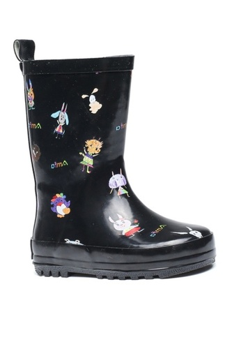 Twenty Eight Shoes 黑色 VANSA 時尚卡通中筒雨靴 VSK-R005 9799EKS3E1D3BFGS_1