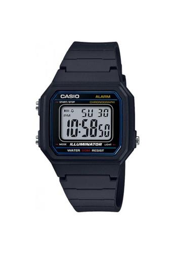 Casio black CASIO GENERAL W-217H-1AVDF UNISEX'S WATCH 595ECAC50EA918GS_1