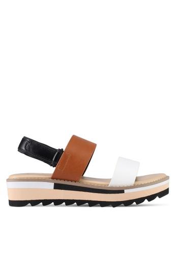 VINCCI brown Strappy Sandals 7693ASHA54F83FGS_1