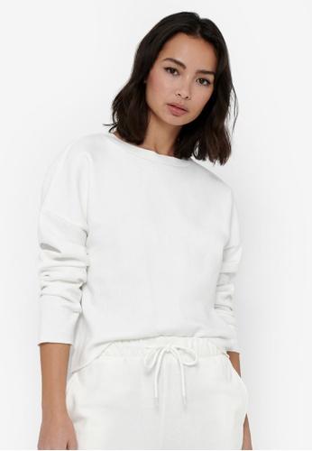 JACQUELINE DE YONG white Cathrin Life Sweatshirt 3EEBEAA184E38EGS_1
