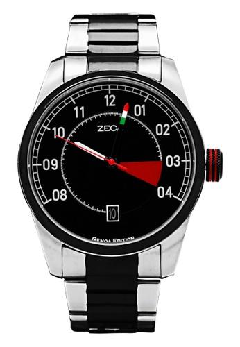ZECA silver Zeca Watches Men Fashion Stainless Steel Analog - 2005M Black F96BCAC742BDD7GS_1