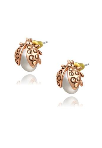 Kings Collection gold Gold Ladybug Earrings (KJEA18071) 2F917ACBF07171GS_1