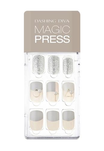 Dashing Diva grey Dashing Diva 1 SEC. MAGIC PRESS Manicure Pearl Gray/ Press on Nails /Nail Tips B1C81BEBA5CF97GS_1