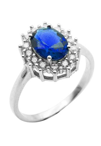Elfi blue Elfi 925 Genuine Silver Engagement Ring M30 - The Blue Precious EL186AC0SBSSMY_1